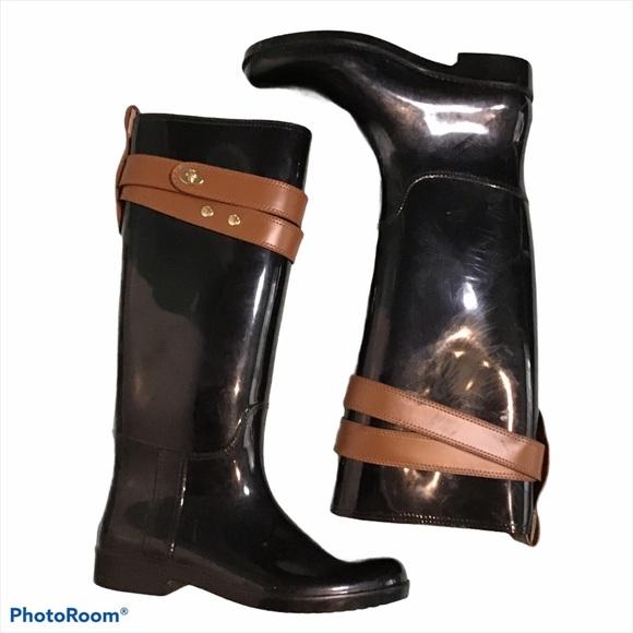 Coach Tall Rain Boots size 8